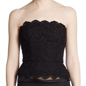 {NWT} Joie • Black Lace Strapless Top